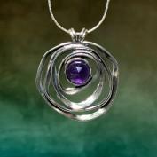 Lykke - Vackert silverhalsband med ametist