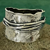 Nikita - Silverring i råare stuk
