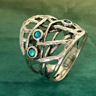 Tilda - Silver och syntetiska opaler