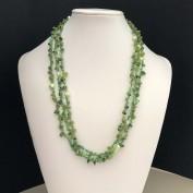 Emmi green - Långt halsband med äkta stenar och pärlor