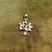 Livets träd - Litet hänge med guldhjärta