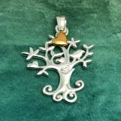 Livets träd - med berlock av guldpläterat hjärta