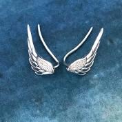 Änglaörhängen i silver