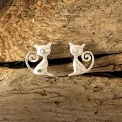 Örhängen - Små katter med svanskrumelur