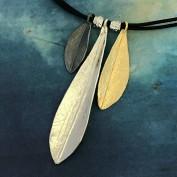 Lady Jane - Trefärgat silverhalsband