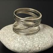 Wilma - Skön silverring med lätt oxidering