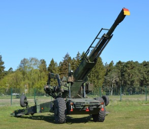 Haubits 77A grupperad på Artillerimuseet.