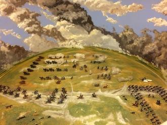 Bild på terräng i dioramat.