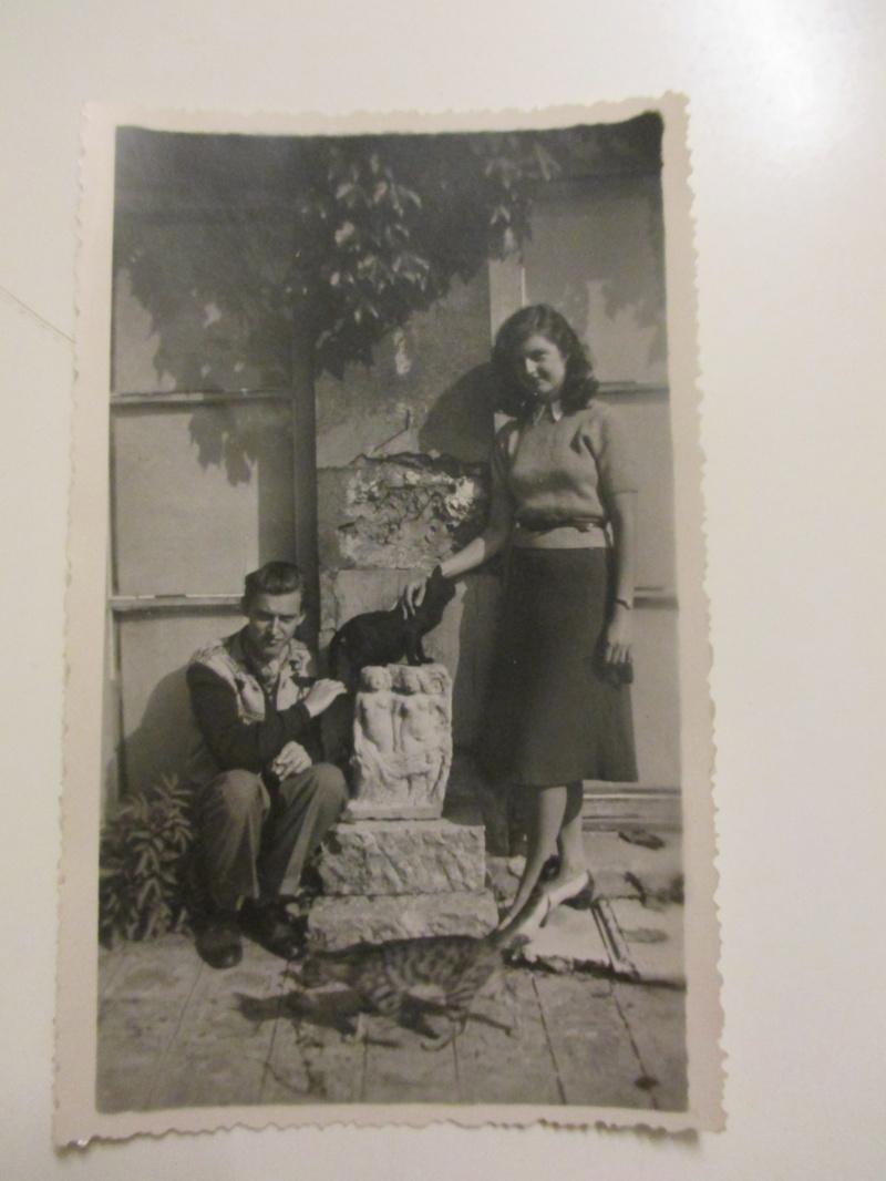 Ett lyckligt konstnärspar i Paris 1947