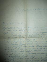 Kärsti hade en mycket vacker handstil. Här ett brev från Villiers le Bel 1948