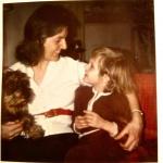 Nyårsafton 1971. Kärsti, Christopher och hunden Pontus