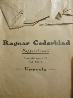 Ragnar Cederblad Pappershandel på Svartbäcksgatan 29