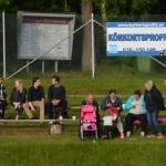 publik på sittplats i pausen