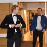 radarparet Fredrik Nilsson och Anton Grännö anländer till galan