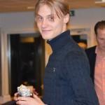 Vinnare av Årets Träningspris Emil Rygert. 93,4 % av träningspassen gjorde han.