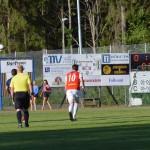 Rickard Crona på språng mot 1-0 målet
