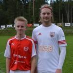 matchens lirare Arvid Elm och Filip Freding