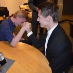 Emil Rygert är en lika stor kämpe i armbrytning som i fotboll