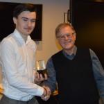 Årets Skyttekung Linus Lyck gratuleras