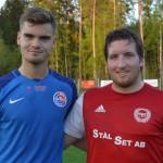 Matchens lirare i vardera laget  Axel Svenningsson och Anton Grännö