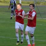 glada målskyttar i matchen