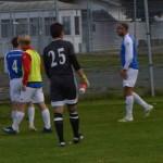 segerchapagnen sprudlade över tränare och spelare efter matchen