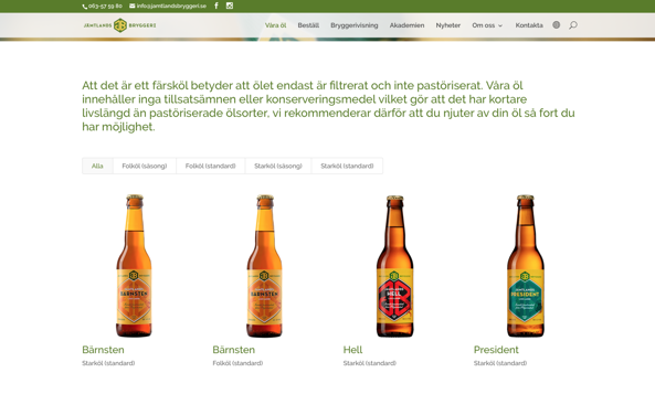 Jämtlands bryggerier öl