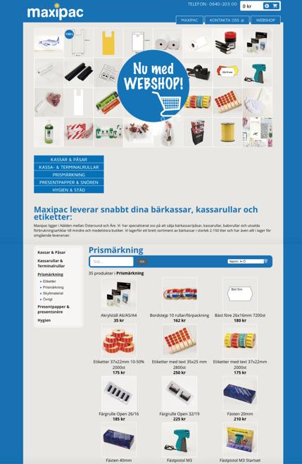 Maxipac webshop