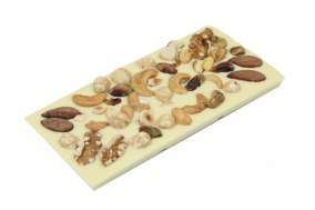Pralinhuset - Vit Choklad - Blandade Nötter