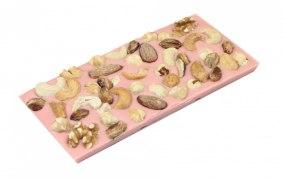Pralinhuset - Jordgubbs Choklad - Blandade Nötter