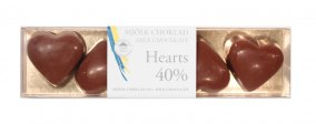 Pralinhuset – Hearts - 40% Kakao - Ljus Choklad