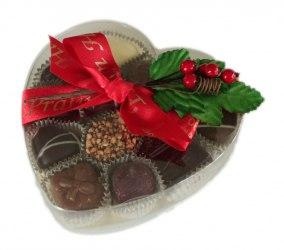 Julens genomskinliga Hjärtask - 185 gram