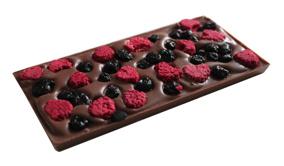 Pralinhuset - 40% Kakao - Hallon & Blåbär