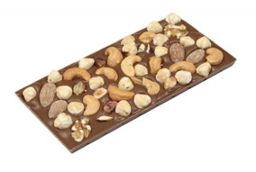 Pralinhusets - 40% Kakao - Blandade Nötter - Sockerfri