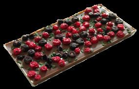 Pralinhuset - 40% Kakao - Röda och Svarta Vinbär & Mint