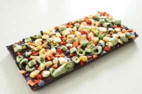 Pralinhusets - 70% Kakao – Bönor, Majs, Paprika & Viol