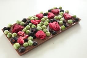 Pralinhusets - 40% Kakao – Ärtor, Blåbär & Hallon