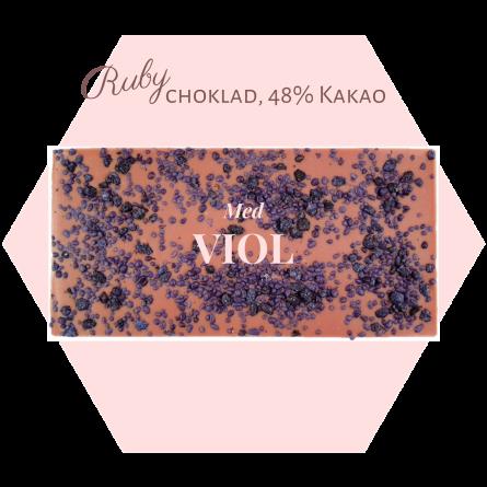 Pralinhuset - Ruby choklad - Viol - Ruby Choklad
