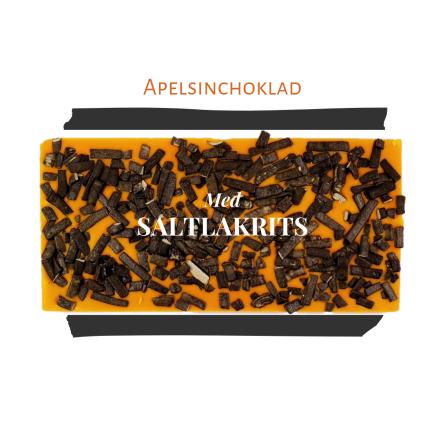 Pralinhuset - Vit Choklad - Apelsinchoklad Saltlakrits -