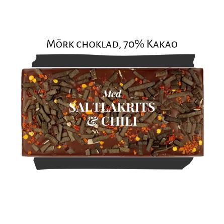 Pralinhuset - 70% Kakao - Lakrits & Chili - Mörk Choklad