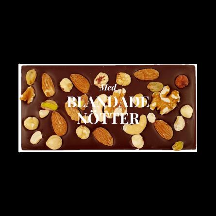 Pralinhuset - 70% Kakao - Blandade Nötter - Mörk Choklad