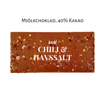 Pralinhuset - 40% Kakao - Chili & Havssalt - Ljus Choklad