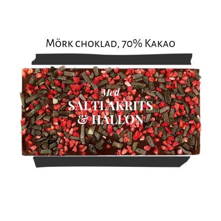 Pralinhuset - 70% Kakao - Lakrits & Hallon - Mörk Choklad