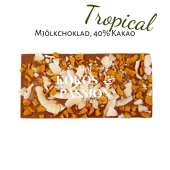 Pralinhuset - 40% Mjölkchoklad - Tropical (Kokos & Passionsfrukt)