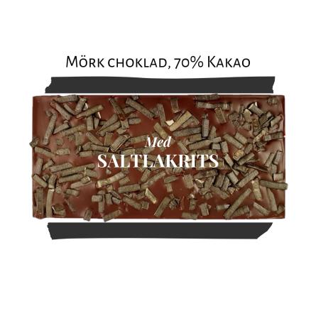 Pralinhuset - 70% Kakao - Saltlakrits - Mörk Choklad