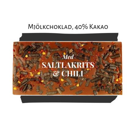 Pralinhuset - 40% Kakao - Lakrits & Chili - Ljus Choklad