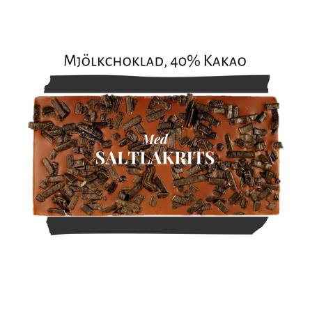 Pralinhuset - 40% Mjölkchoklad - Saltlakrits - Ljus Choklad
