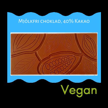 Pralinhuset - 40% Kakao - Mjölkfri - Ljus Choklad