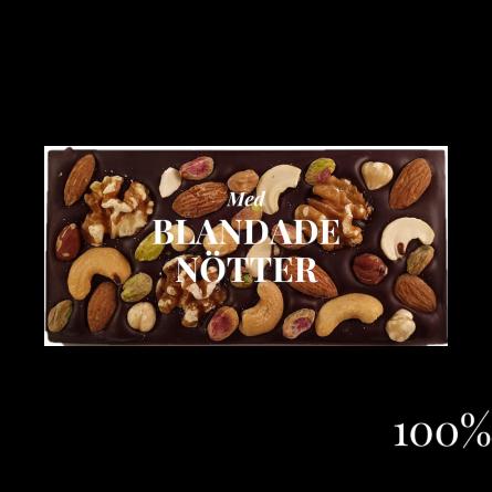 Pralinhuset - 100% Kakao - Blandade Nötter - Mörk Choklad