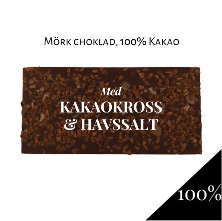 Pralinhuset - 100% Kakao - Kakaokross & Havssalt -